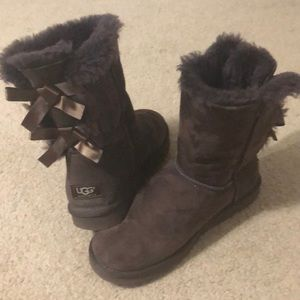 Chocolate Uggs Bailey Bow